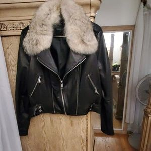 Lambskin with Coyote collar Andrew  Mark motorcycl